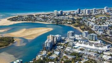 Sunshine Coast arial view