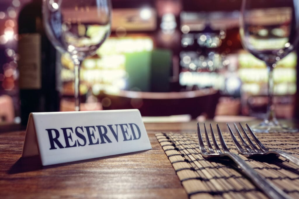 Image of a reserved table